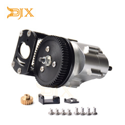 DJX metalowe R3 pojedyncze skrzynia biegów z przekładnia silnika do montażu 1/10 zdalnie sterowany samochód gąsienicowy RC4WD D90 D110 Gelande 2