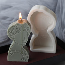 3D Silikon Porträt Form Aromatherapie Kerze Gips DIY Kerze, Der Formen 3D Silikon Kerze Formen Haushalt Kuchen Formen
