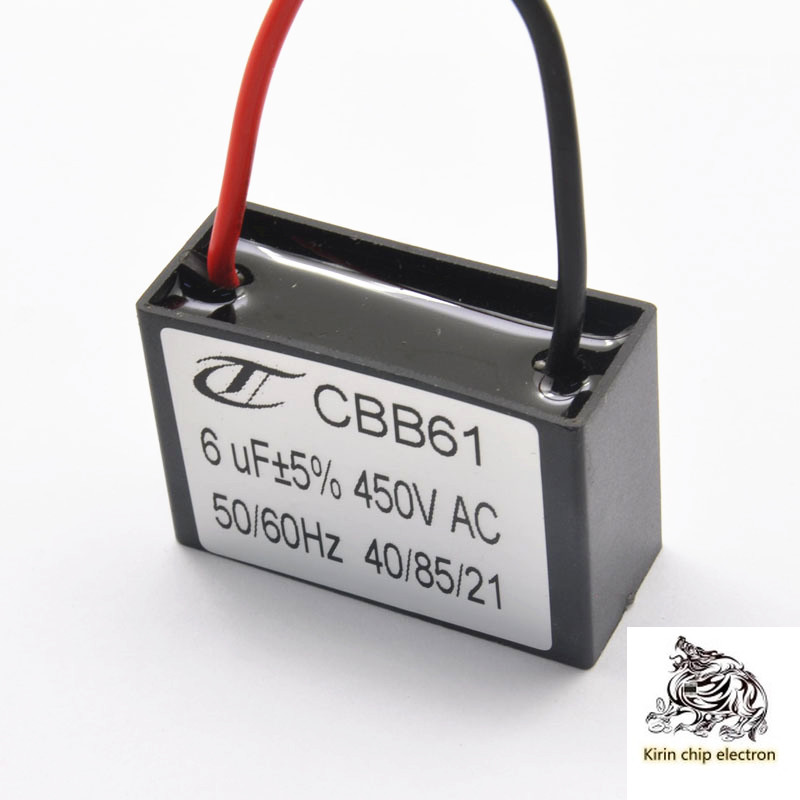 5pcs / Lot CBB61 Starting Capacitor Fan Starting Capacitor Motor Starting Capacitor 6UF / 450V