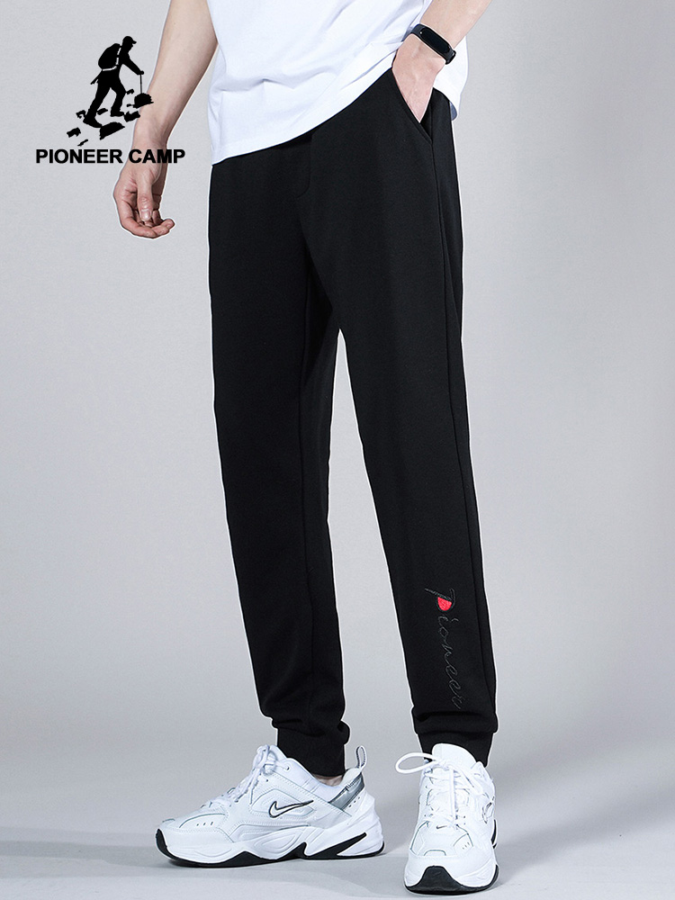 Pioneer Camp 2020 Summer Sweatpants Men Cotton Fashion Causal Streetwear Black Gray Joggers For Male AZZ0107056