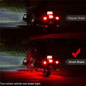 Image 3 - 6 RGB 36 LED Smart Brake Lights Motorcycle Car Atmosphere Light with Wireless Remote Control Moto Decorative Strip Lamp Kit