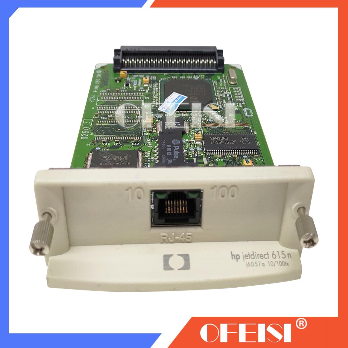 Original novo JetDirect 615N J6057A 10/100tx Ethernet Placa de Rede Do Servidor de Impressão Interno para hp impressora DesignJet de Impressora Plotter
