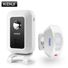 Wireless Doorbell Home Security 433mhz KERUI Motion-Detection 32-Songs Alarm Welcome-System