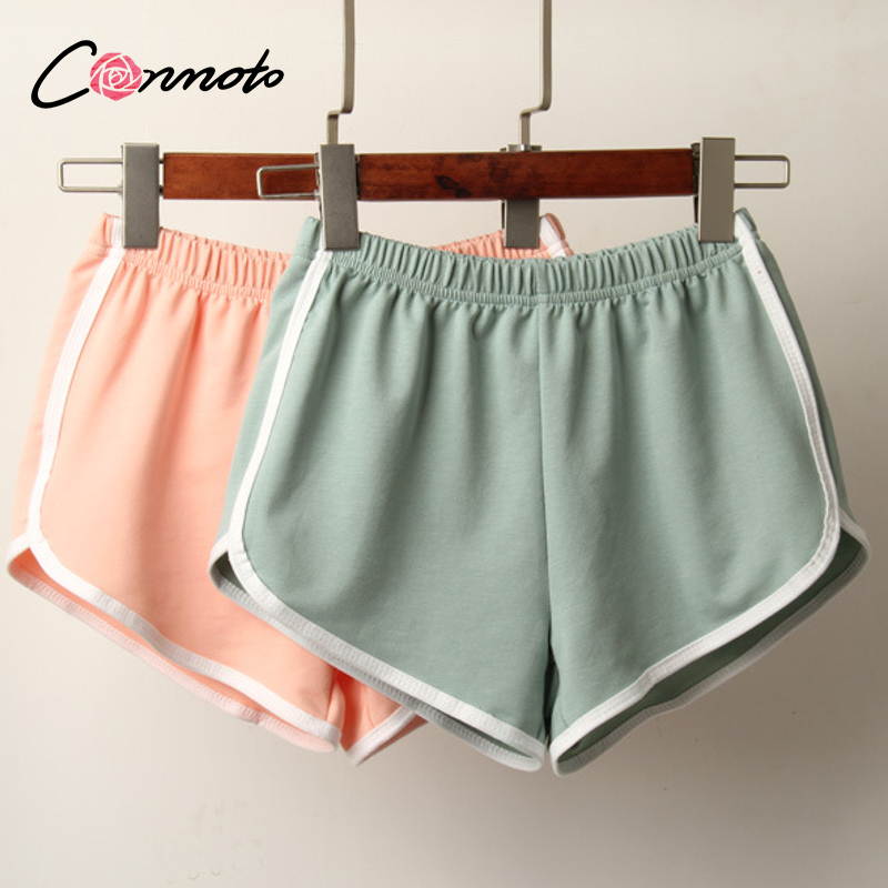 Conmoto Daily leisure fresh solid color shorts Beach Party leisure shorts Sports low waist holiday shorts spring and summer 2020| |   - AliExpress