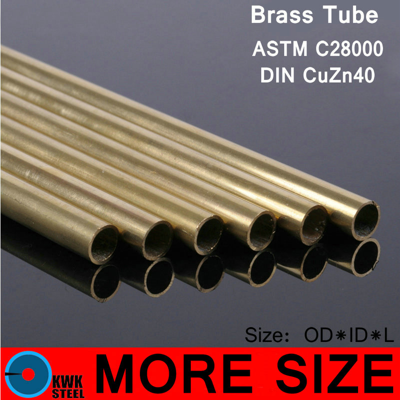 Brass Seamless Pipe Tube Tubing Pipeline Piping Of ASTM C28000 CuZn40 CZ109 C2800 H59 Hollow Bar ISO Certified Free Shipping