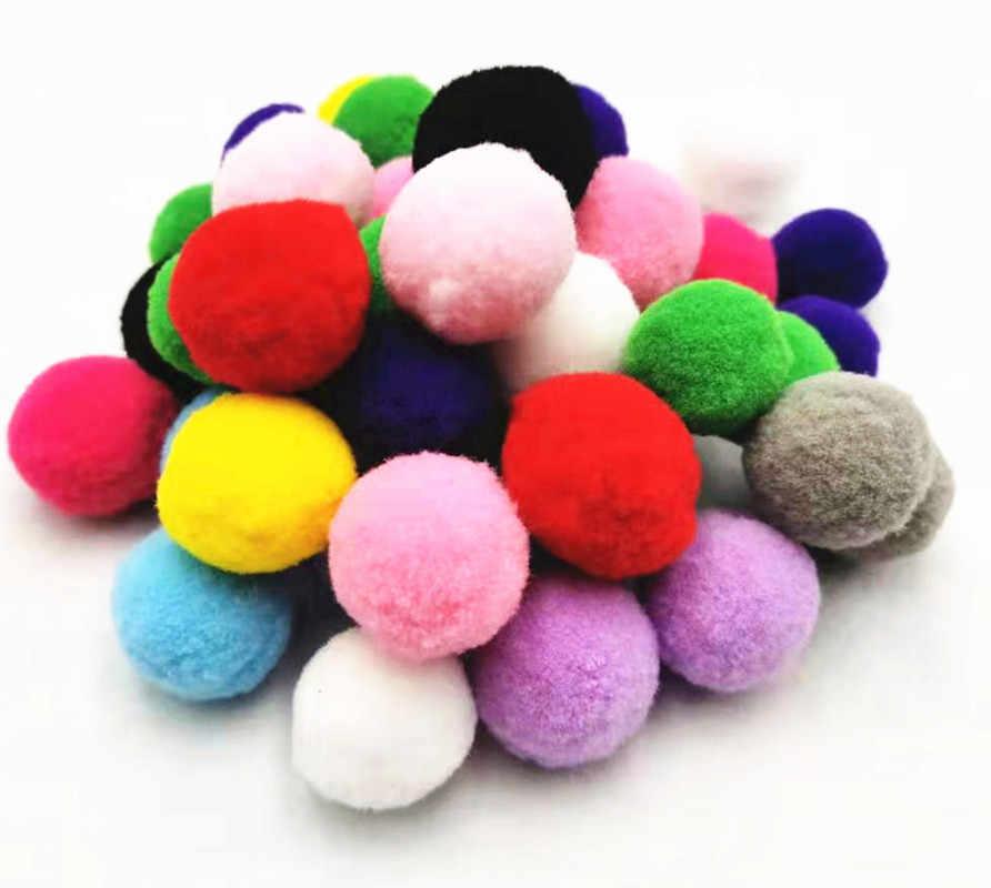 Warme Kleur Pompoms Gift Decoratie Benodigdheden Mix Size Pompon Kinderen Ambachten Speelgoed Materiaal Garen Pom Pom Manualidades Diy Pompones
