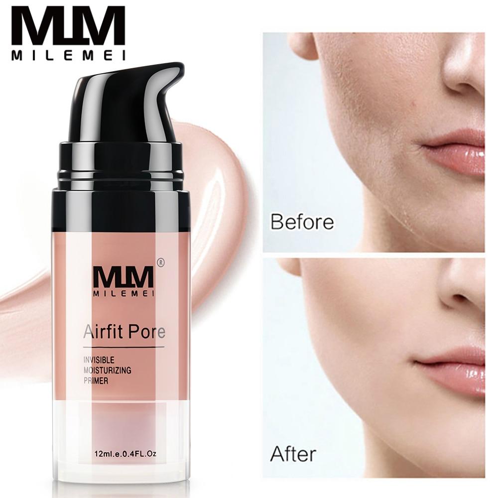 MILEMEI Magic Invisible Por Facial Primer Base Makeup For Face Brighten Skin Concealer Primer Cream Oil-control Make Up Base