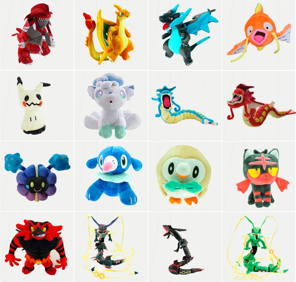 Gyarados Mega Charizard X&Y Dragonair Cosmog Mimikyu Rayquaza Alola Vulpix Stuffed Animal Dolls Children Plush Toys Kids As Gift