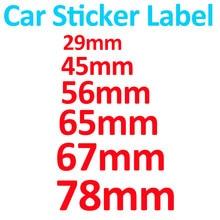 Para bmw cola epoxy/decoração do carro de alumínio 29mm 45mm 56mm 65mm 67mm 78mm tampa da roda do carro etiqueta da direção decalque emblema cobre