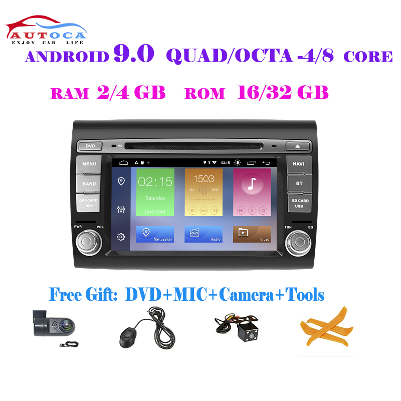 Android 10 Car GPS Stereo Navigation Multimedia DVD Player Auto Radio For Fiat/Bravo 2007 2008 2009 2010 2011 2012 DPS CARPLAY image