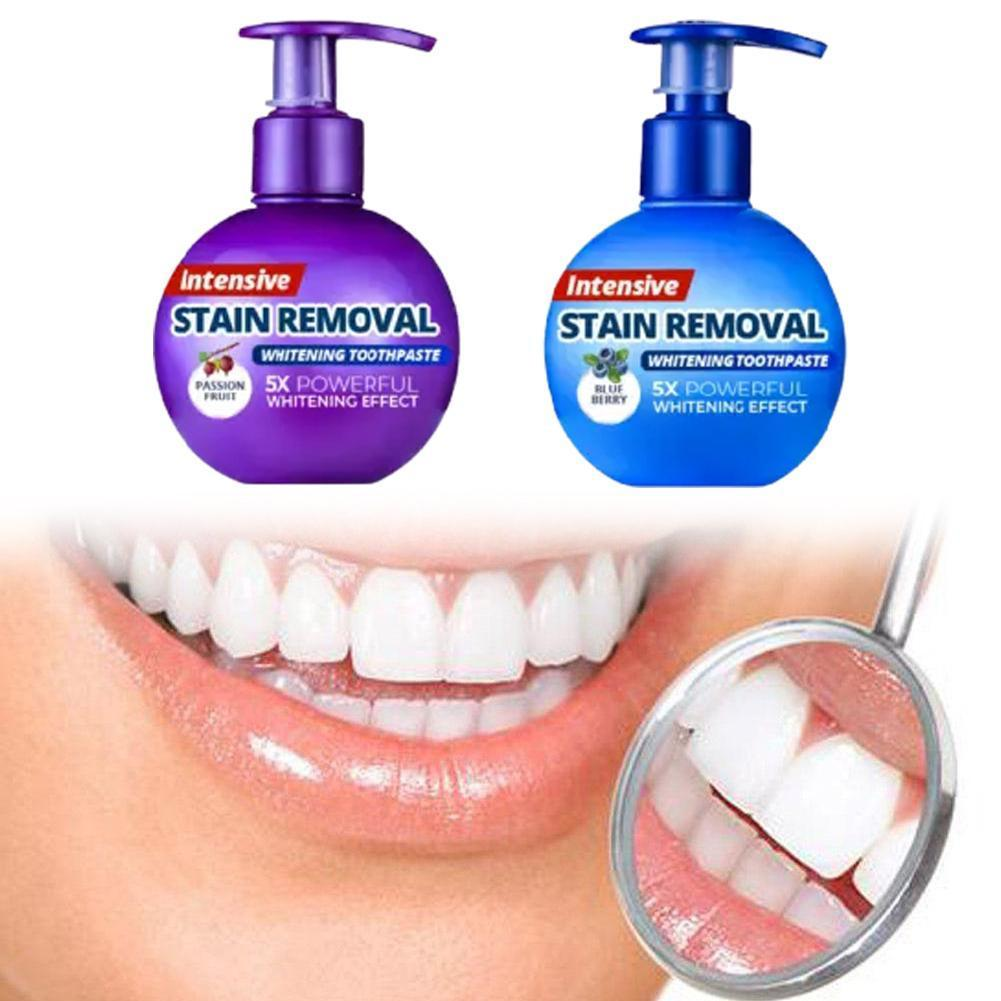 Toothpaste Whitening Teeth Stain Removal Tooth Whitening Toothpaste Toothpaste Gums Blueberry Soda Fruit Bleeding Fight Pas Q2G1