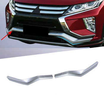 For Mitsubishi Eclipse Cross 2017 2018 2019 Matte Front Lower Bumper Grille Bottom Cover Protector Strip Trim Car Accessories