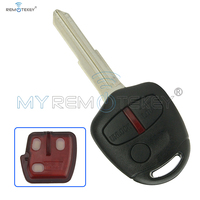 Remote Key For Mitsubishi Outlander Lancer 3 Button ID46 PCF7936 433 Mhz MIT11R 2008 2009 2010 2011 2012 2013 Remtekey