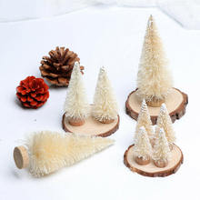 8pcs Mini Christmas Tree Sisal Silk Cedar Fake Pine Snow Frost Tree Decoration Christmas Tree craft christmas snow night tree antiskid bath rug