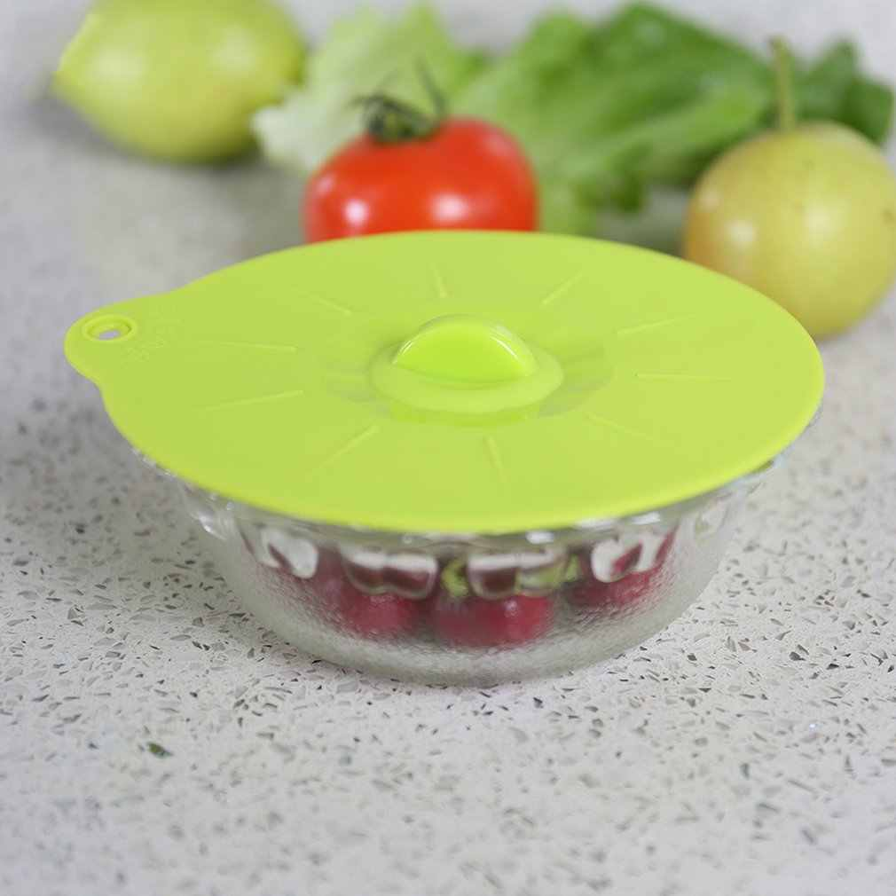 Pequeno food grade silicone tampa tampa do forno de microondas geladeira fresco-mantimento aquecimento placa tampa isolados tampa prato redondo