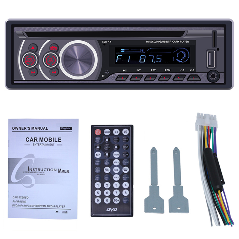 Car Stereo CD Player   Single Din Bluetooth Audio and Hands Free Calling MP3 Player CD/DVD/VCD USB Port AUX Input AM/FM Radio Re|Car Radios| |  -