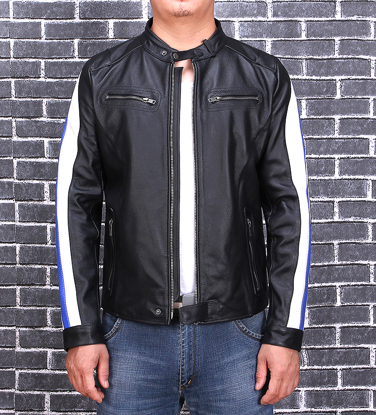 2020 Black Men Short Motorcycle Leather Jacket Plus Size XXXL Genuine Cowhide Autumn Slim Fit Biker's Leather Coat