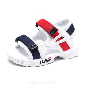 2021 dziecięce letnie chłopięce skórzane sandały dziecięce płaskie dziecięce buty na plażę dziecięce sportowe miękkie antypoślizgowe sandały na co dzień malucha tanie i dobre opinie DDAYXXUAN RUBBER 4-6y 7-12y 12 + y CN (pochodzenie) Lato GLADIATORKI Damsko-męskie oddychająca Miękka skóra Płaskie obcasy