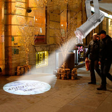 2019 Fashion Weightlight Gobo Projector Outdoor 10m Distance Rotary Images Advertising Display Market Cinema Hotel Custom LOGO цена 2017