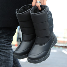 2020 new mid-tube snow boots winter new warmth and velvet thickening non-slip wear-resistant outdoor travel men's cotton shoes