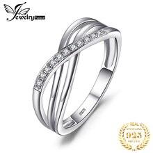 JewelryPalace бесконечность любви Романтический Юбилей Свадьба Promise Ring 925 пробы Серебряные ювелирные изделия мода подарок на день рождения