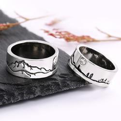 Huitan Women/Men Band Finger Rings Solitaire Round Cubic Zirconia Birthday Anniversary Gift Unisex Retro Jewelry Drop Shipping