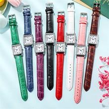 Nowe mody zegarki damskie zegarki damskie koreański zegarki kwarcowe pasek damski zegarki kwadratowe zegarki Reloj Mujer zegar prezenty #4 tanie tanio CN (pochodzenie) QUARTZ STOP Rectangle ANALOG fashion Akrylowe Unisex Moda casual Band Watch Nowa z metkami drop shipping