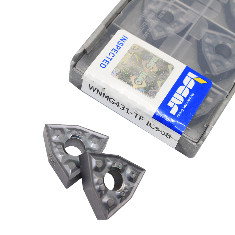 20PCS WNMG080408 TF IC908 External Turning Tools Carbide Insert Lathe Cutter Tool Tokarnyy Turning Insert