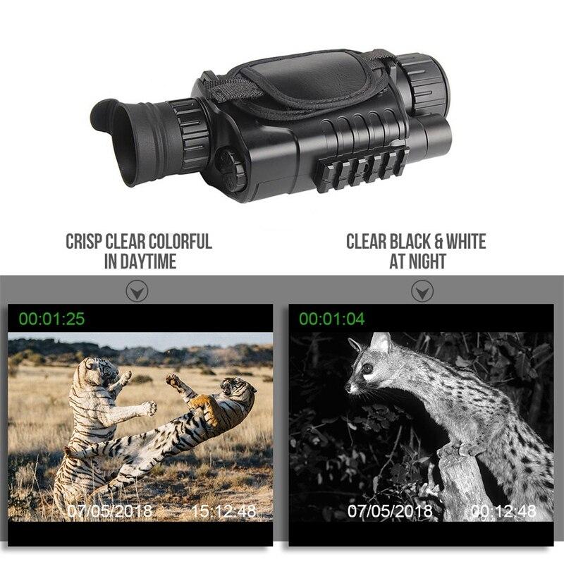 Vision nocturne infrarouge monoculaire 5X40 Zoom lunettes de Vision nocturne 200M Distance Observation nocturne et numérique Ir chasse D - 6