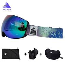 Lunettes de Ski OTG sans monture lentilles sphériques aimant Interchangeable lentille Ski lunettes de neige hommes femmes UV400 revêtements Anti-buée
