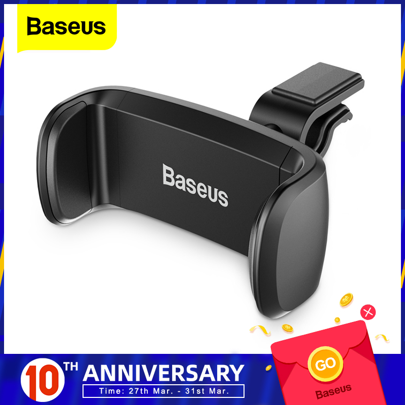 Baseus Car Phone Holder For iPhone 7 6 Support Phone Voiture 360 ​​graders mobiltelefonhållare Car Air Vent Mount Holder Stand