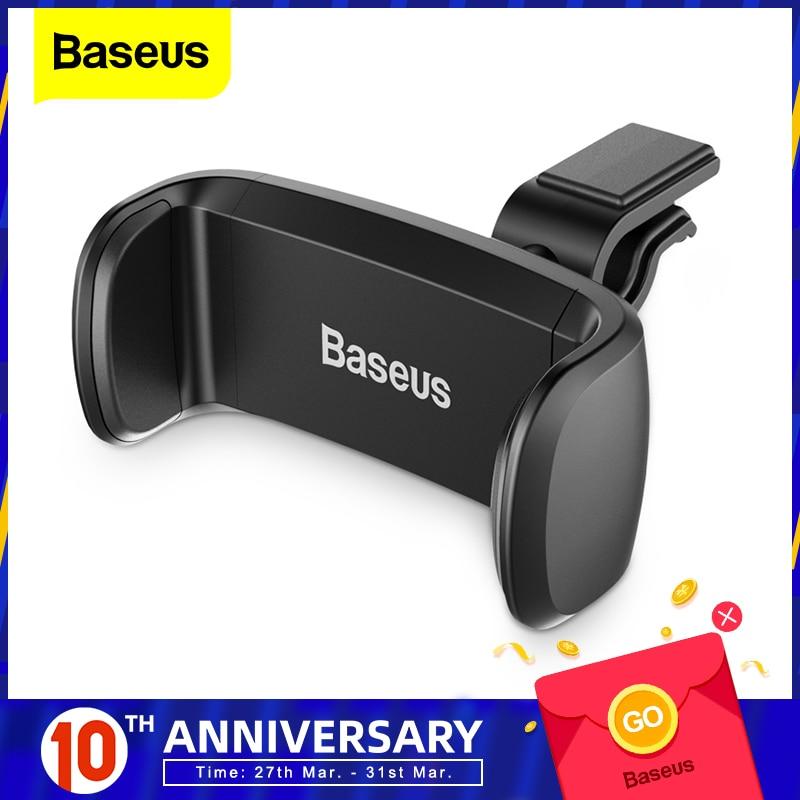 Baseus Car Phone Holder For iPhone 7 6 Support Phone Voiture 360 graders mobiltelefonhållare Car Air Vent Mount Holder Stand