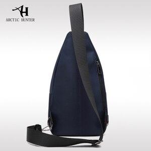 Image 4 - 2019 neue Männliche Brust Tasche Mode Freizeit Wasserdichte Mann Oxford Tuch Korea Stil Messenger Schulter Tasche Für Teenager Tasche