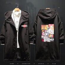 Costumes de Cosplay Anime bears pour hommes et femmes, longue veste coupe vent, Trench Coat à capuche, Costume dhalloween CS044