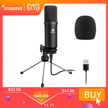 MAONO USB Microphone Podcast Condenser Microphone 192kHz/24bit Professional Microphone With Tripod Stand for Computer Youtube