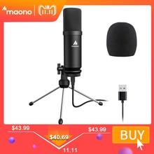 Maono Usb Microfoon Podcast Condensator Microfoon 192Khz/24bit Professionele Microfoon Met Statief Stand Voor Computer Youtube