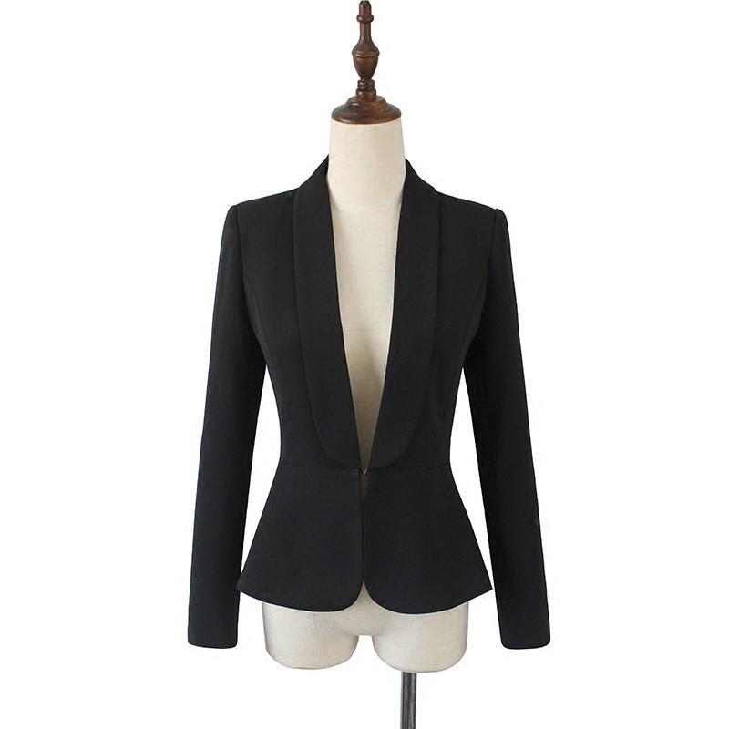 2020 New Women White Office Work Slim Fit Short Jacket Lady Sexy Deep V Neck Blazer OL Ruffle Blazer Outwear Blazers Suits Coat