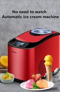 Image 5 - 1PC Home full automatic ICM 15A mini ice cream machine household intelligent ice cream maker 1.5L Capacity 140W Ice Cream Makers