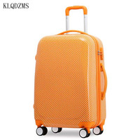KLQDZMS 202224inch high quality suitcase girls rolling luggage spinner women travel bags cabin fashion trolley case