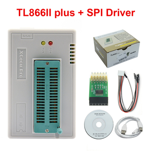 Original V9.16 TL866II Plus EEPROM PIC AVR USB Universal BIOS nand Programmer 24 93 25 mcu Bios EPROM with SPI Driver
