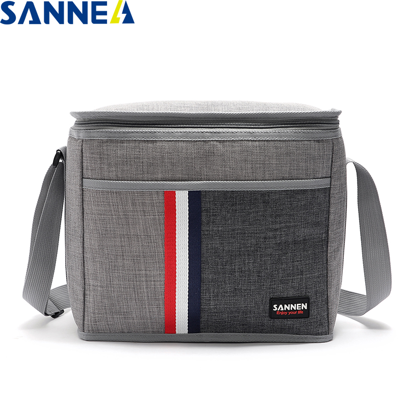 SANNE 9L Waterproof Denim Lunch Bag Insulated With Aluminum Film Inside Thermal Lunch Box CL802-31