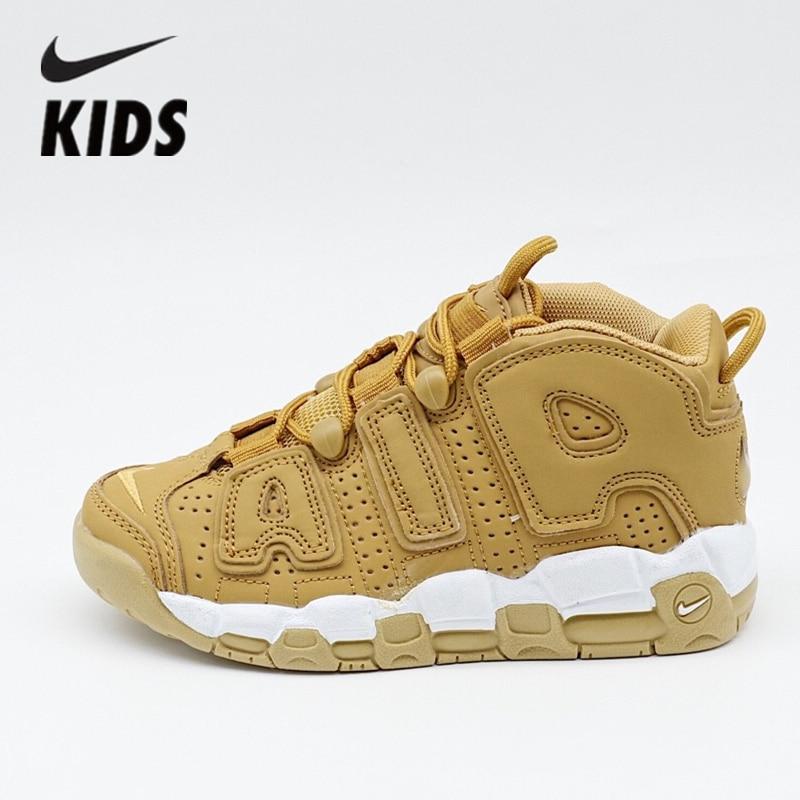 Nike Air More Uptempo Kids Shoe Air Cushion Serpentine Children Basketball Shoes AA4060-200