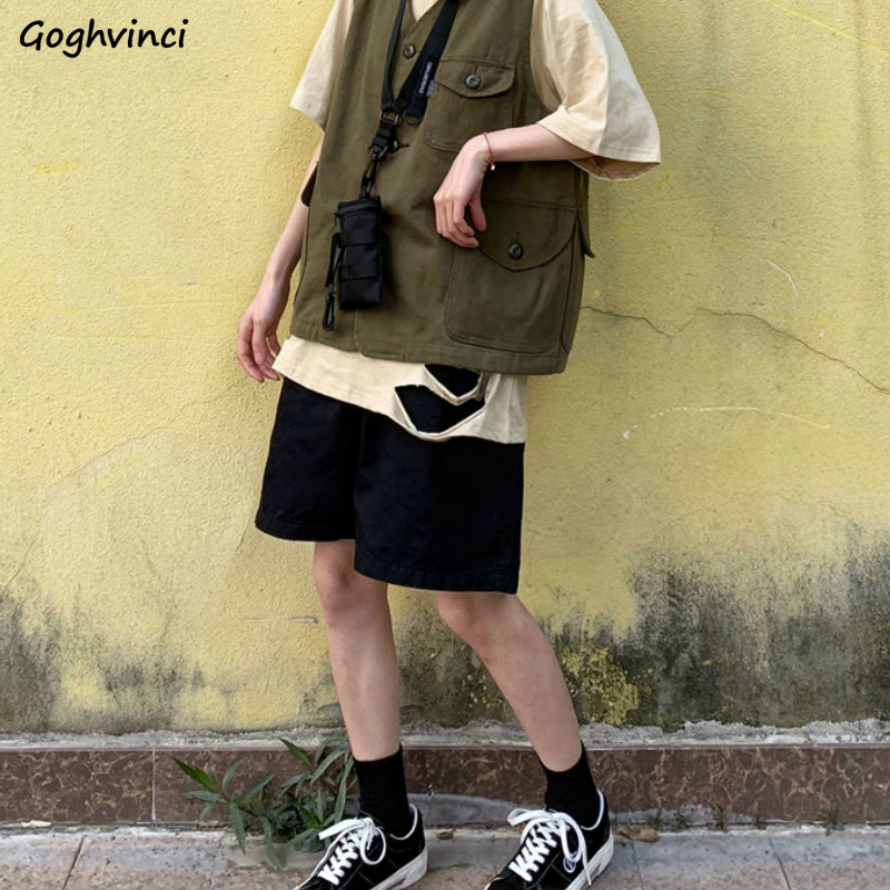 Shorts Women Summer Breathable Solid Simple Leisure 2XL Loose New Womens Korean Style Chic All-match High Quality Harajuku Ins
