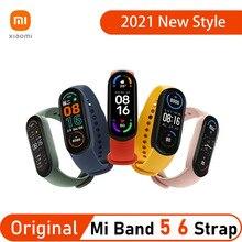 Originale Xiaomi Mi Band 5 6 Smart Bracelet Watch Strap sostituzione morbido Silicone Miband cinturino colorato Band5 Band6