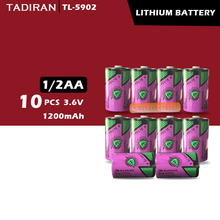 10 шт. тадиран TL-5902 1/2AA ER14250 SL350 3,6 V 1/2 AA литиевая батарея plc