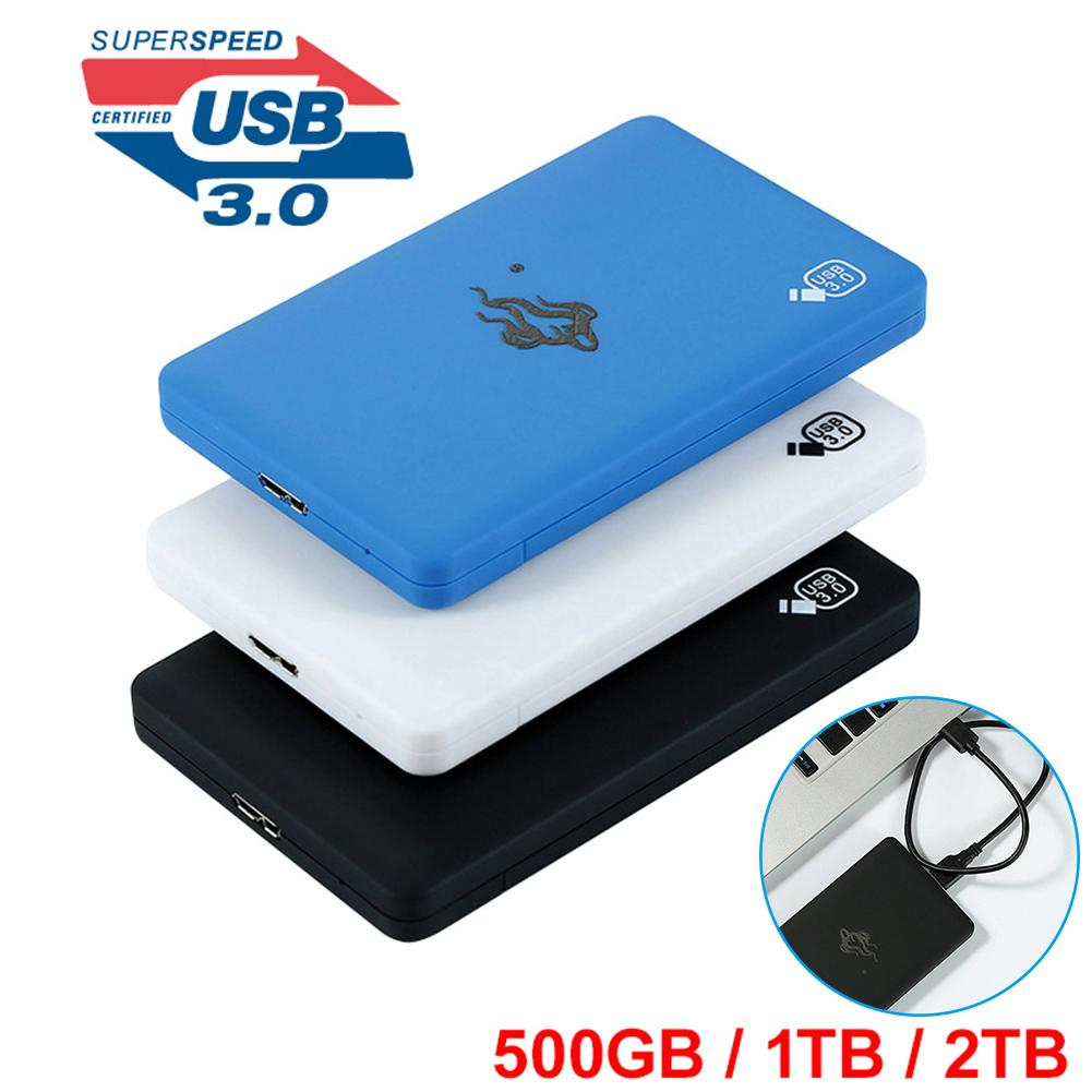 USB 3.0 External Hard Drive 2.5'' Black Blue 500GB/1TB/2TB HDD External HD Hard Disk Hd Externo Disco Duro Externo Hard Drive