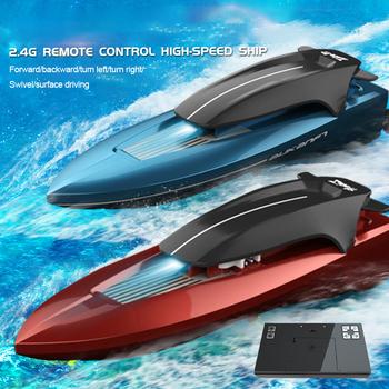 2 4G 10 km h RC łódź wyścigowa s elektryczny wioślarstwo Model łódź na zewnątrz wysoko prędkość pilot łódź łódź wyścigowa bateria zabawki dla dzieci tanie i dobre opinie CN (pochodzenie) Z tworzywa sztucznego about 20min as show 40-50m Mode1 Mode2 Electric 4 kanały 10km h Dorośli 14 lat