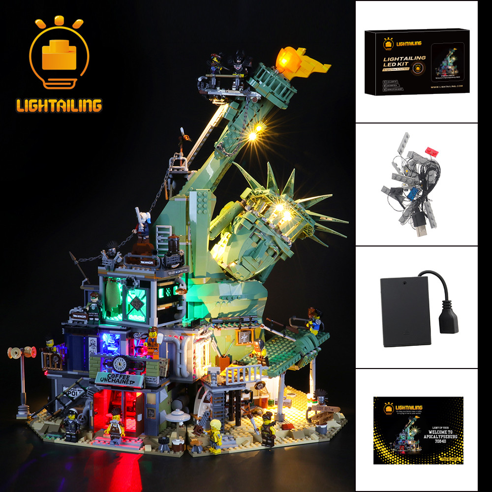 LED Light Lighting Kit ONLY For LEGO 70840 Welcome to Apocalypseburg Bricks Toy