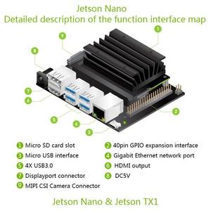 Image 5 - Jetson Nano Developer kit Demo Board AI Development Board Platform A02 Version+ case+fan+32G SD card +DC power adapter+AI camera