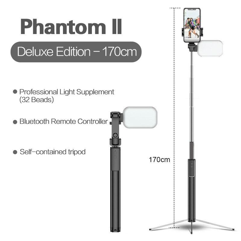 Селфи-палка SEC 3 в 1 Складная с Bluetooth, мини-штатив для смартфона, расширяемый монопод с дистанционным управлением для IPhone, Huawei